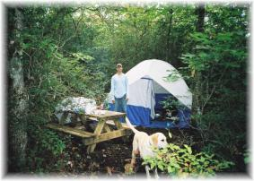 secluded tent camping sites in Brevard, NC mountains